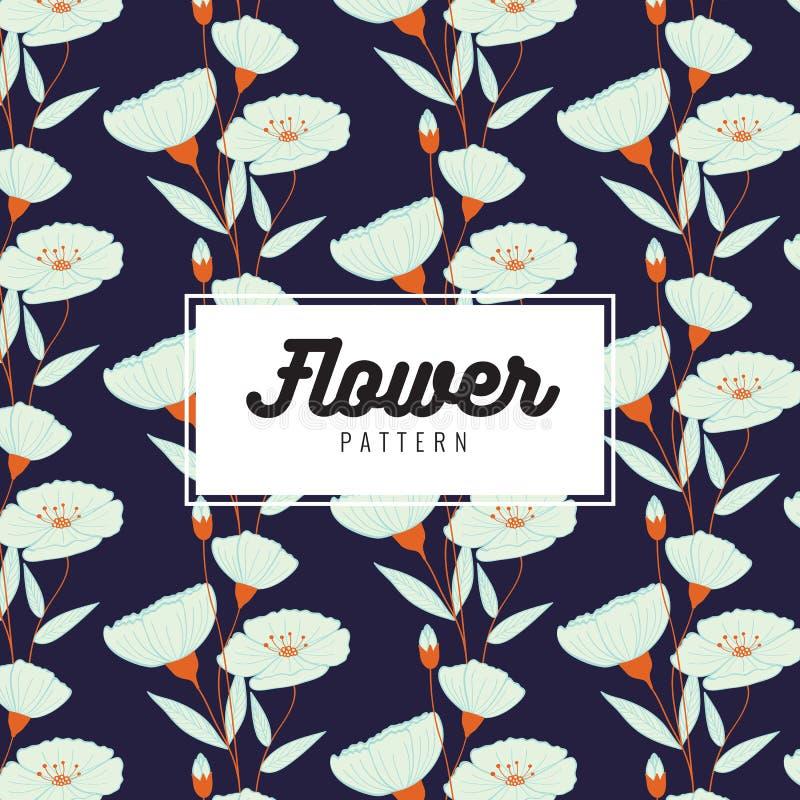 Elegant bloem naadloos patroon Harmonische kleurencombinaties Druktextuur Stoffenontwerp stock illustratie