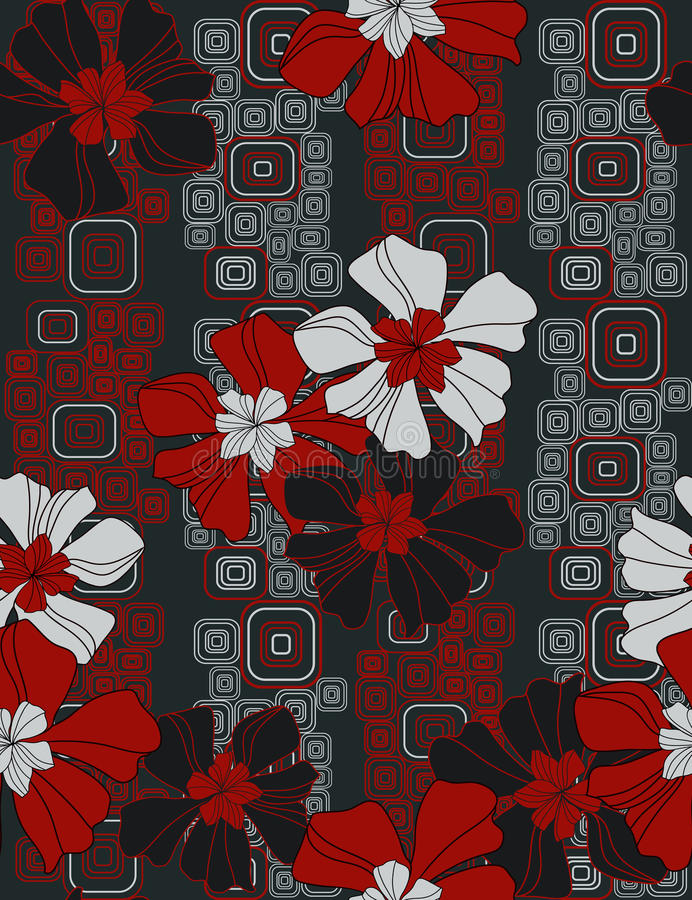 Elegant bloemen naadloos patroon stock illustratie
