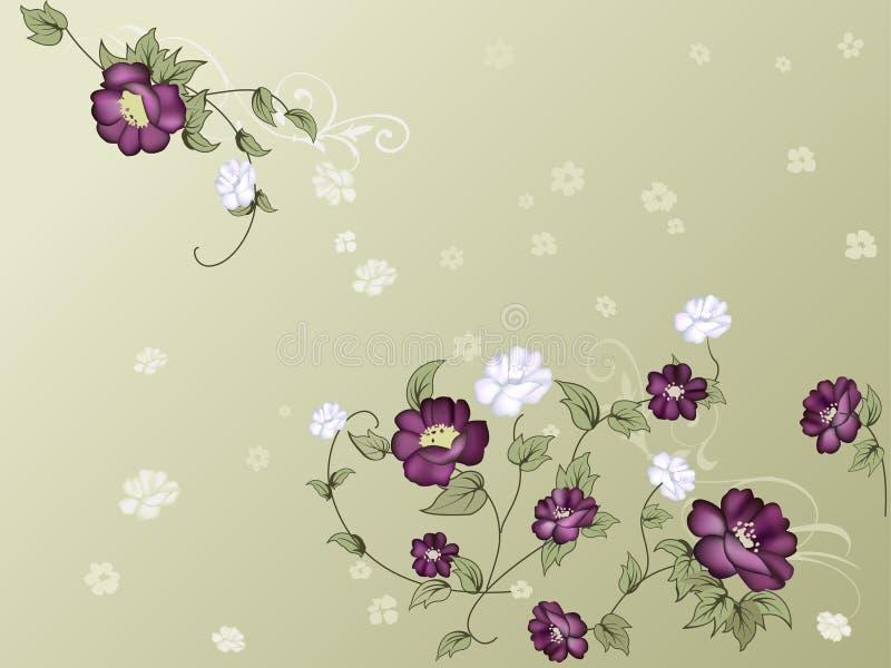 Elegant bloemenbehang royalty-vrije illustratie