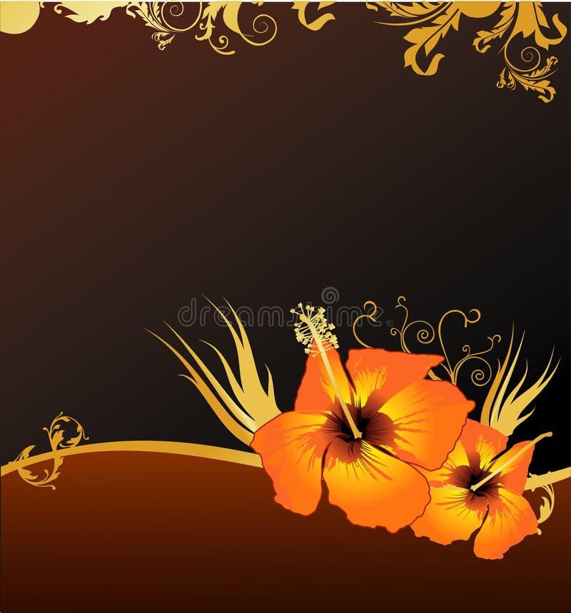 elegant blom- vektor för composit stock illustrationer