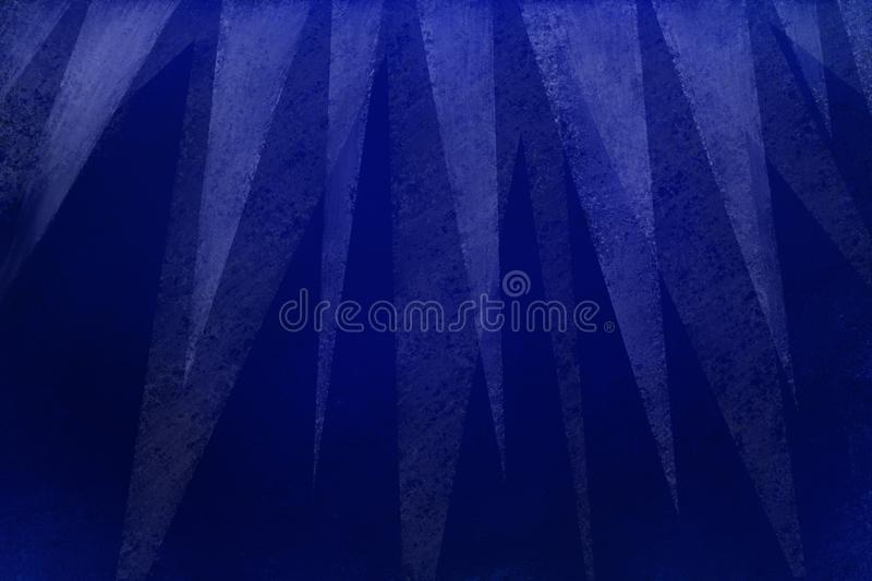 Elegant blue background with modern white triangle layers on top border with texture in geometric background design vector illustration