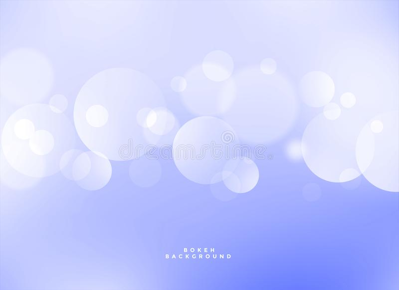 Elegant blue bokeh light effect background royalty free illustration