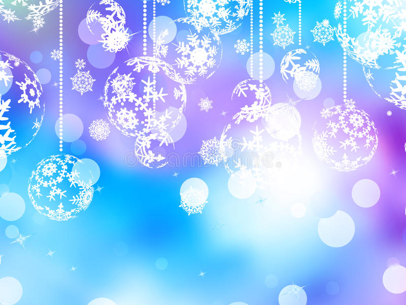 Elegant Christmas Background With Snowflakes Stock Vector: Elegant Blue Christmas Background. EPS 10 Stock Vector