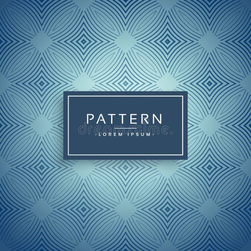 Elegant blue pattern design background vector illustration
