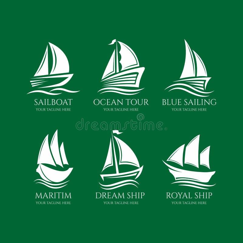 Free Elegant Boat Logo Collection, Royal Ship Logo, Boat Logo Stock Photography - 148314902