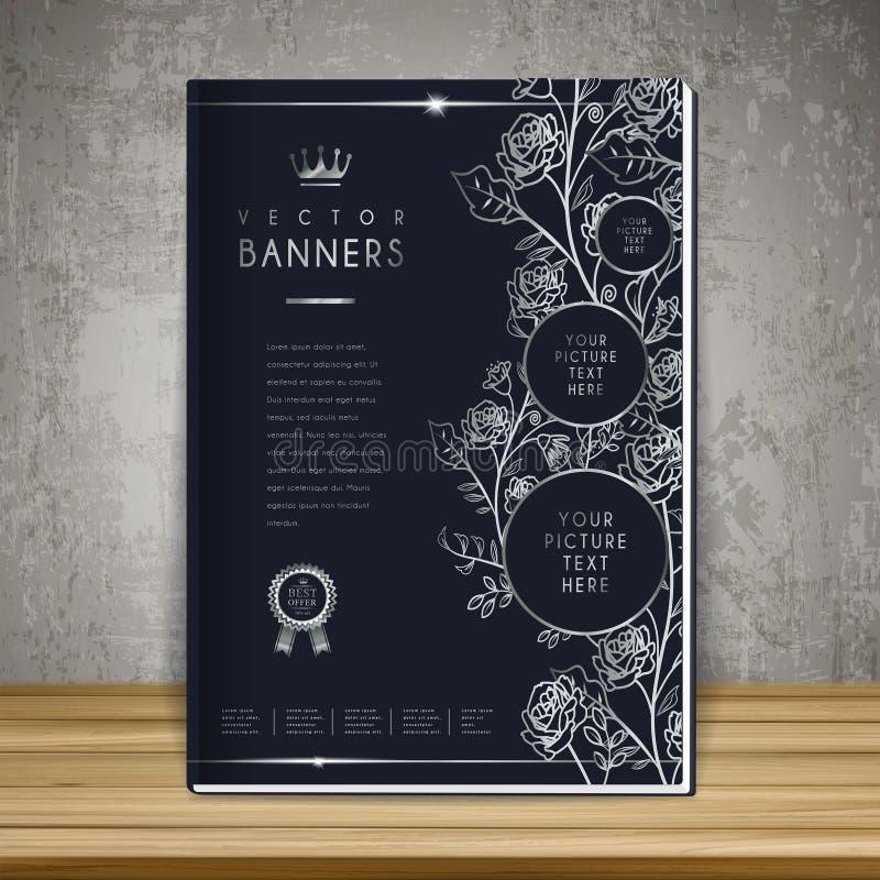 Simple Elegant Book Covers : Elegant book cover template design stock vector