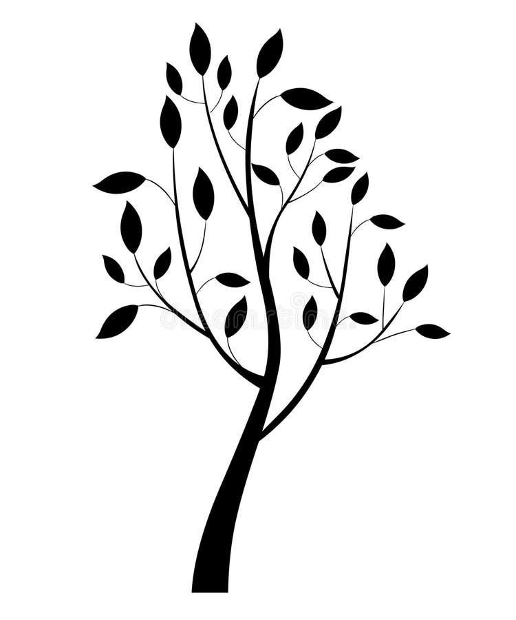 Elegant boomsilhouet De vectorbroek van het boompatroon royalty-vrije illustratie
