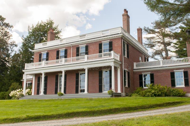 Download Elegant brick mansion stock photo. Image of chimneys - 32918750