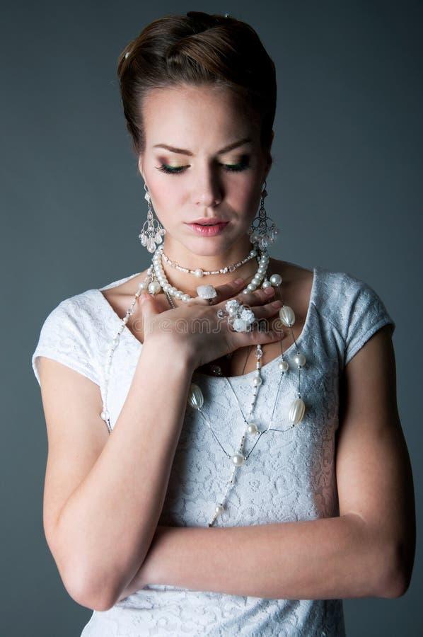 Elegant bride stock photography