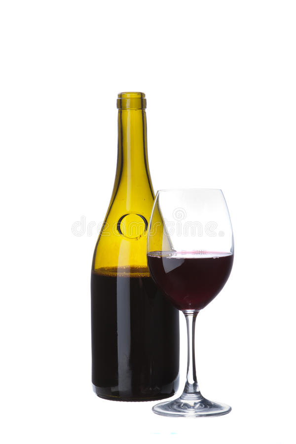 Free Elegant Brown Transparent Wine Bottle Stock Photo - 27469930