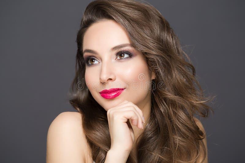 Elegant brunette beauty stock photo