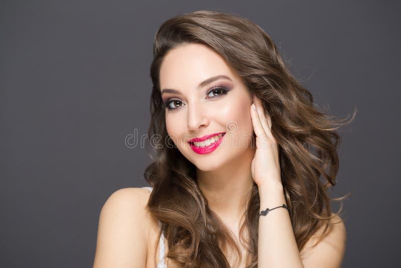 Elegant brunette beauty stock images