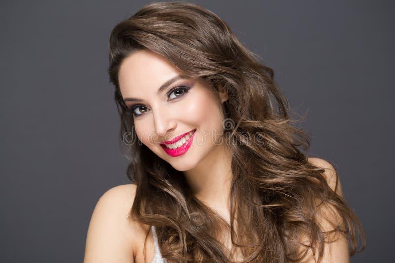 Elegant brunette beauty royalty free stock image