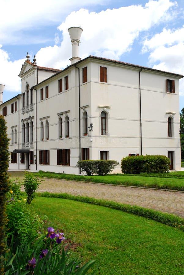 Elegant building in Portobuffolè in the province of Treviso in the Veneto (Italy) royalty free stock photos