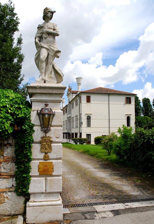 Elegant building in Portobuffolè in the province of Treviso in the Veneto (Italy) stock photos