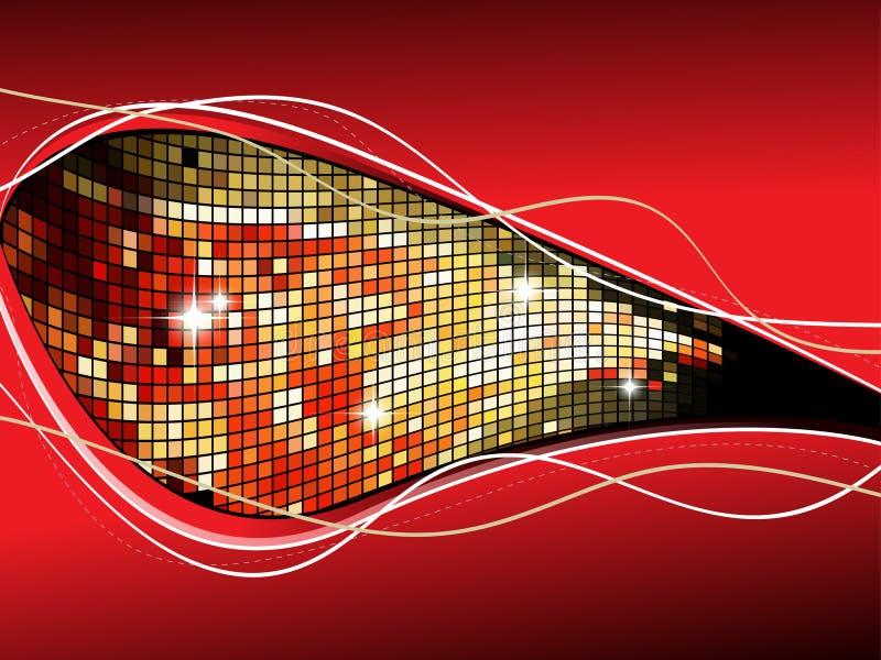 Elegant business background, disco flyer. stock illustration