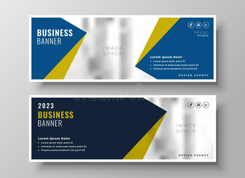 Elegant business banners in geometric style royalty free illustration