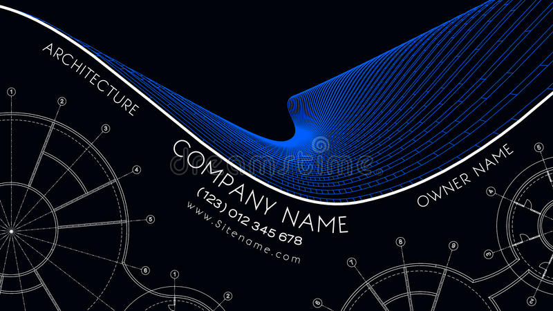 Elegant business card for an architect. Abstract Vector illustration. royalty free illustration