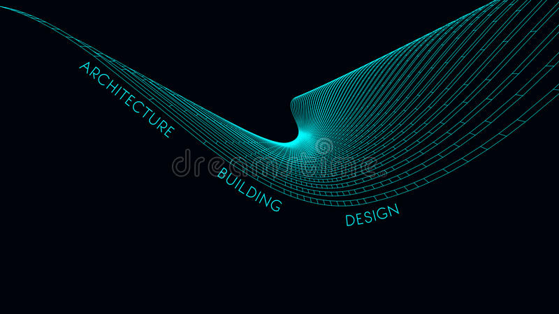 Elegant business card for an architect. Abstract Vector illustration. vector illustration