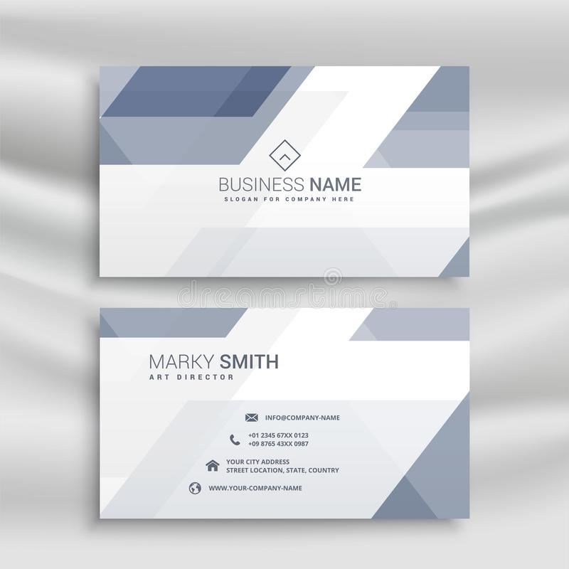 Elegant business card design with geometric shapes stock illustration