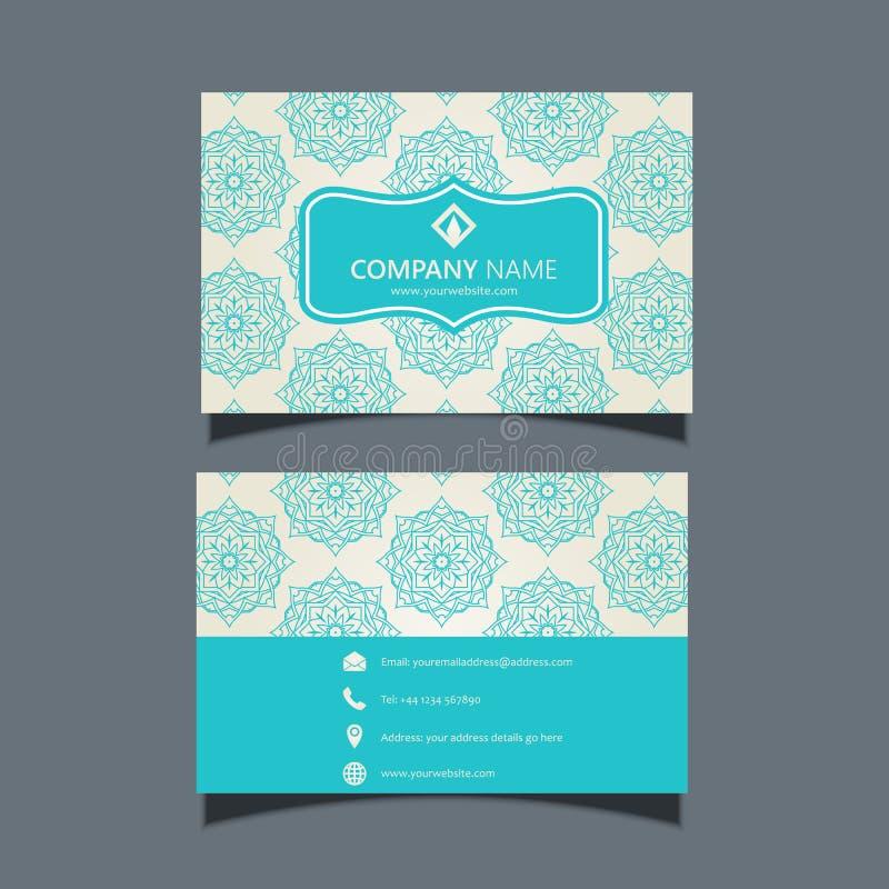 Elegant Business Card Design Stock Illustration - Illustration of ...