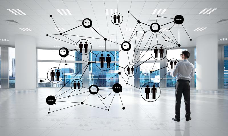 Networking and social communication concept as effective point for modern business stock photography