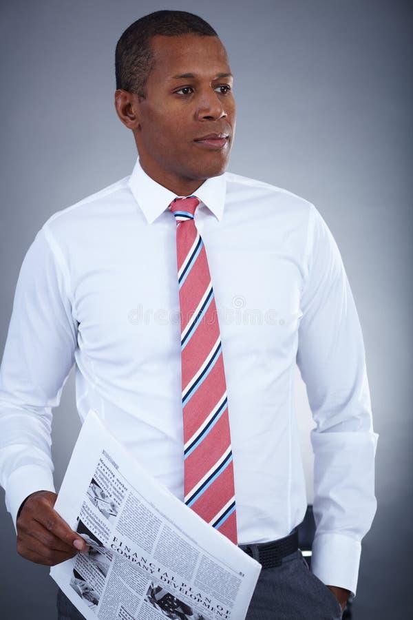 Elegant businessman royalty free stock photo