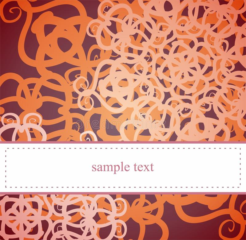 Elegant card or invitation with floral motif stock images
