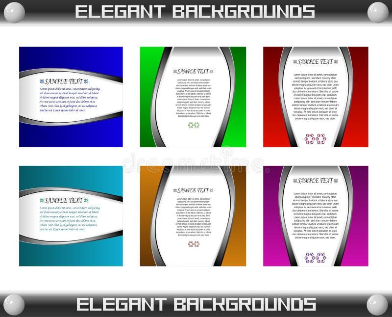 Elegant Card Template Set Vector stock photo