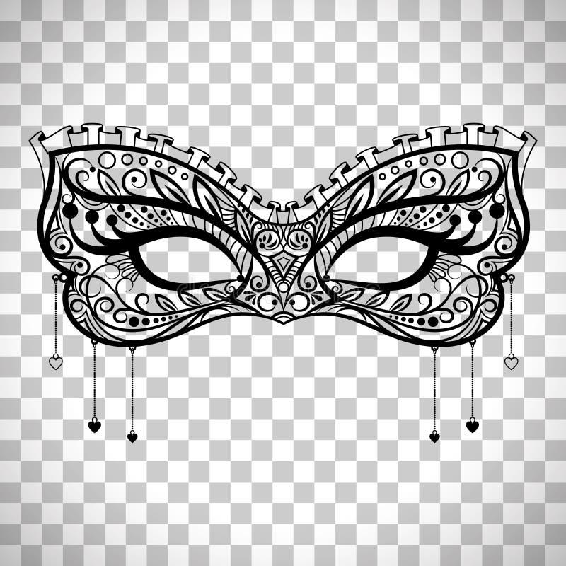 Download Elegant Carnival Mask On Transparent Background Stock Vector