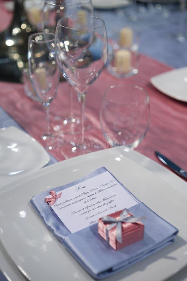 Elegant ceremoni bordlägger arkivbilder