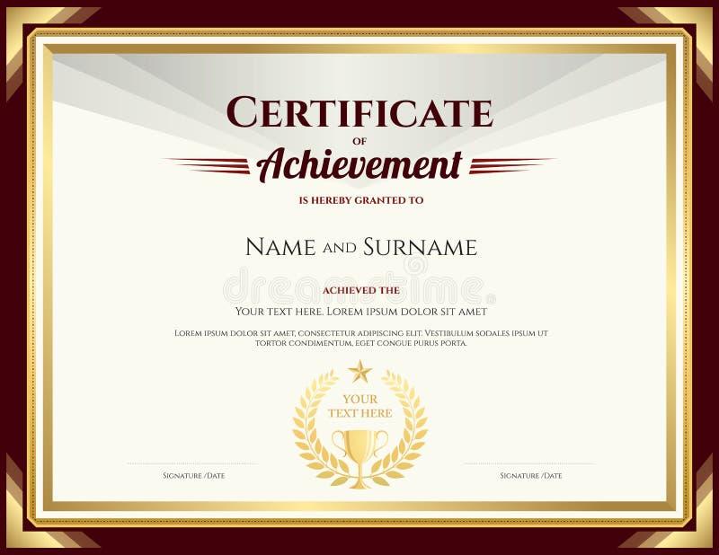 Elegant certificate of achievement template stock vector download elegant certificate of achievement template stock vector illustration of illustration blank 83518621 yadclub Choice Image