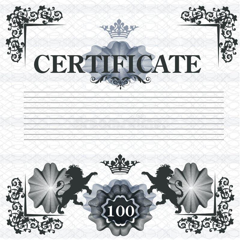 Download Elegant Certificate Design In Vintage Style Stock Vector - Illustration of ornamental, document: 39506508