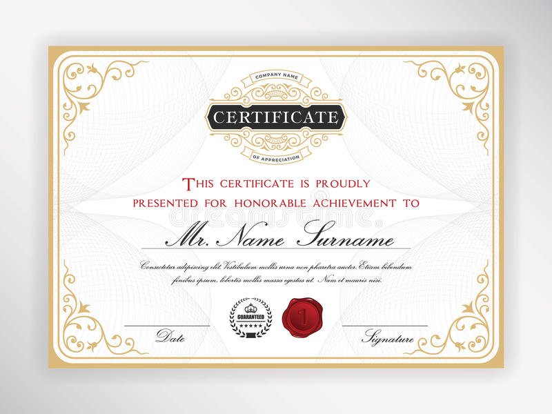Elegant certificate template stock vector illustration of elements download elegant certificate template stock vector illustration of elements design 69006324 yadclub Choice Image