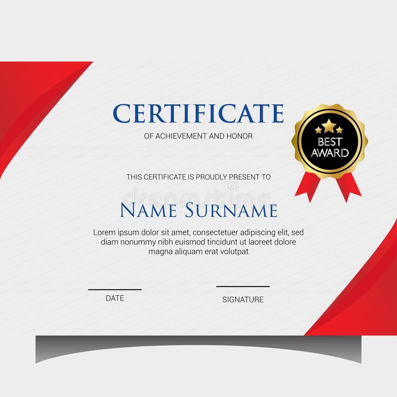 Elegant certificate templates royalty free stock photography