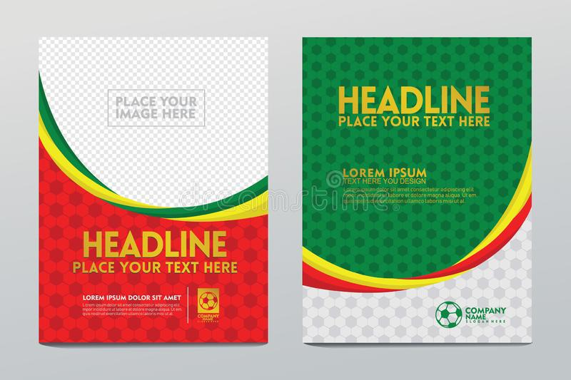 Modern cover Layout Template for football sport event. Layout Template design of the poster or cover and users others for football sport event. of luxurious and vector illustration