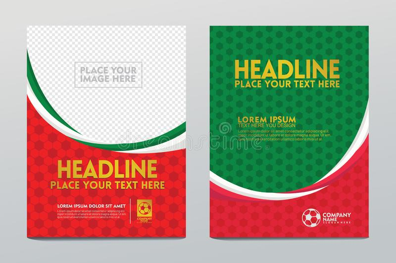 Modern cover Layout Template for football sport event. Layout Template design of the poster or cover and users others for football sport event. of luxurious and stock illustration