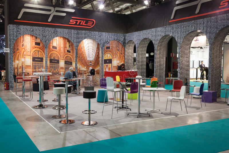 Elegant chairs at Host 2013 in Milan, Italy