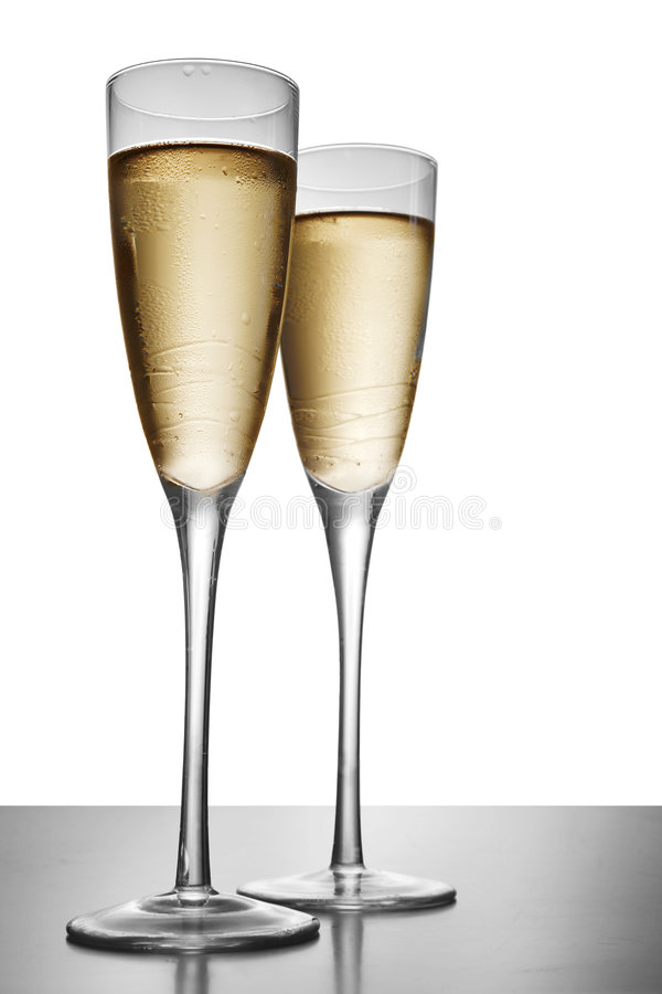 Elegant Champagne stock afbeeldingen