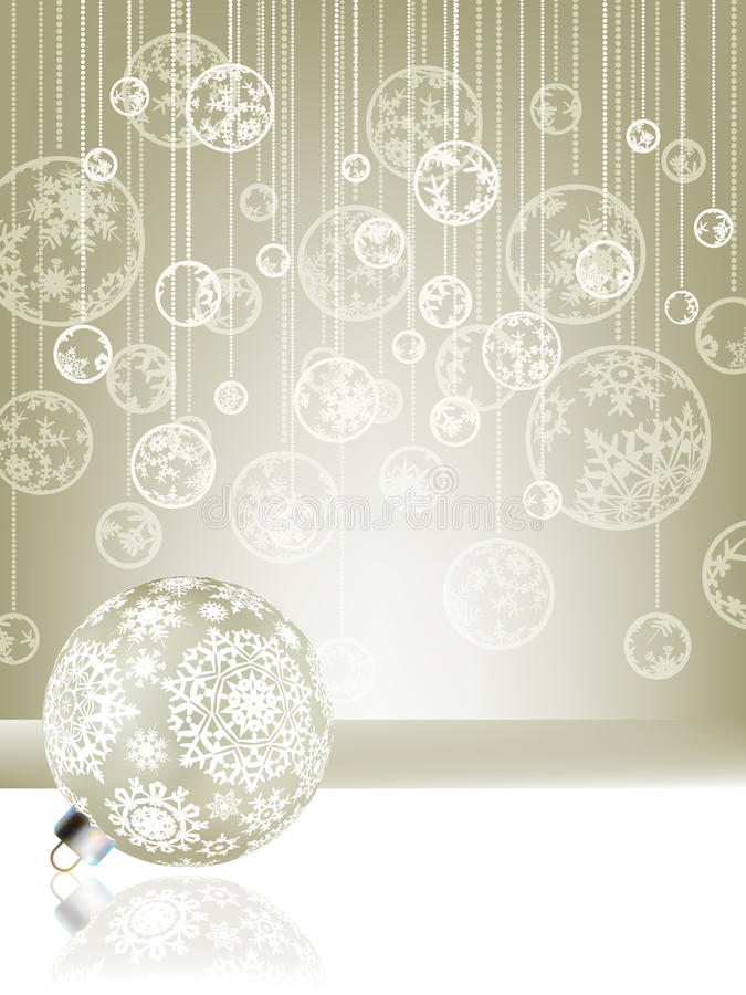 Elegant christmas background with baubles. EPS 8. File included royalty free illustration