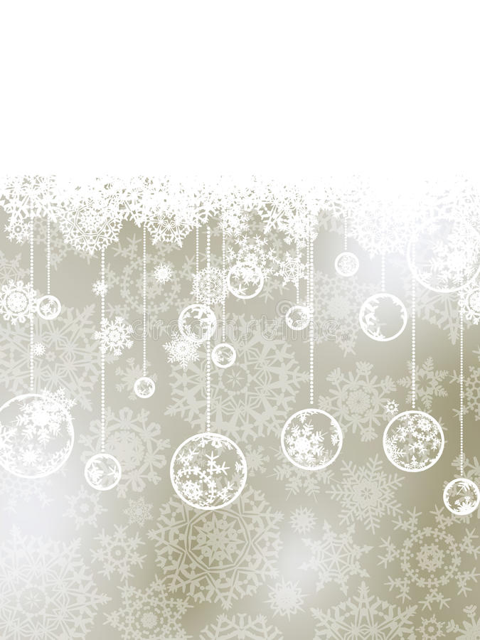 Elegant christmas background with baubles. EPS 8. File included stock illustration