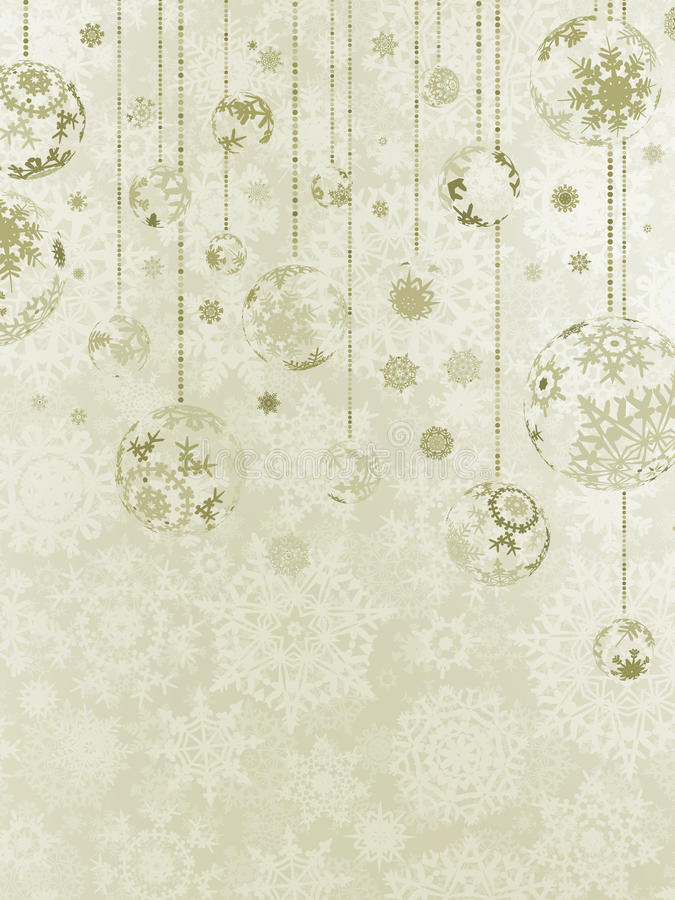 Download Elegant Christmas Background With Baubles. EPS 8 Stock Vector - Image: 26624296