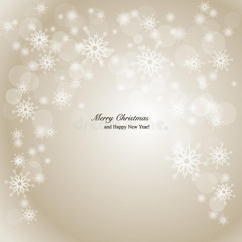 Elegant Christmas background with snowflakes and p. Lace for text. Vector Illustration