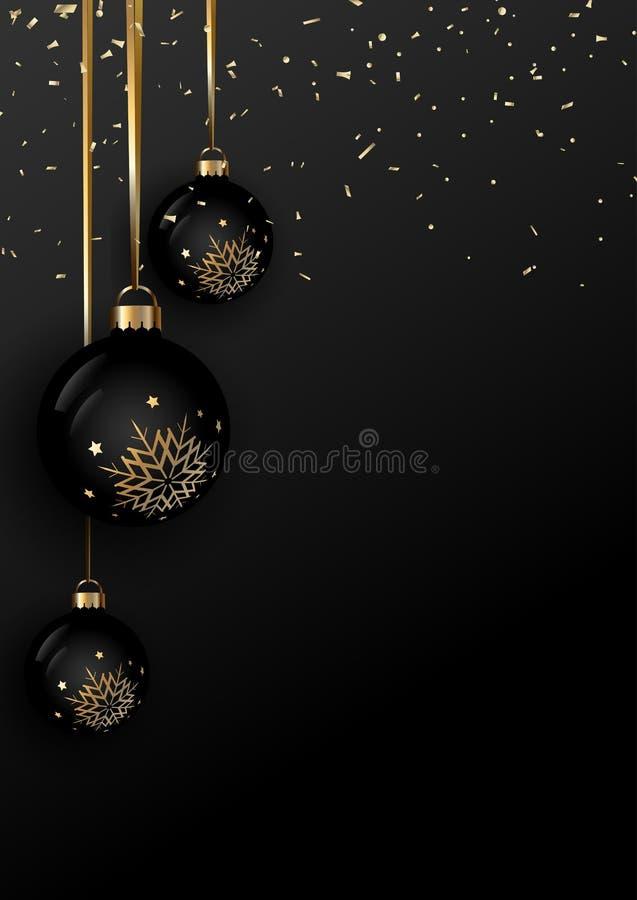 Elegant Christmas bauble background vector illustration