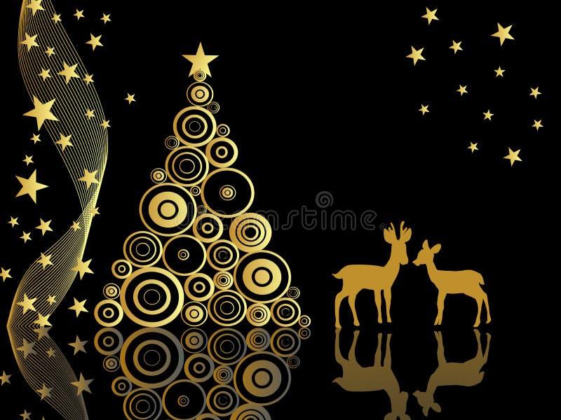 Elegant christmas card royalty free illustration
