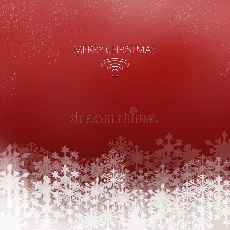 Elegant Christmas card royalty free stock photography