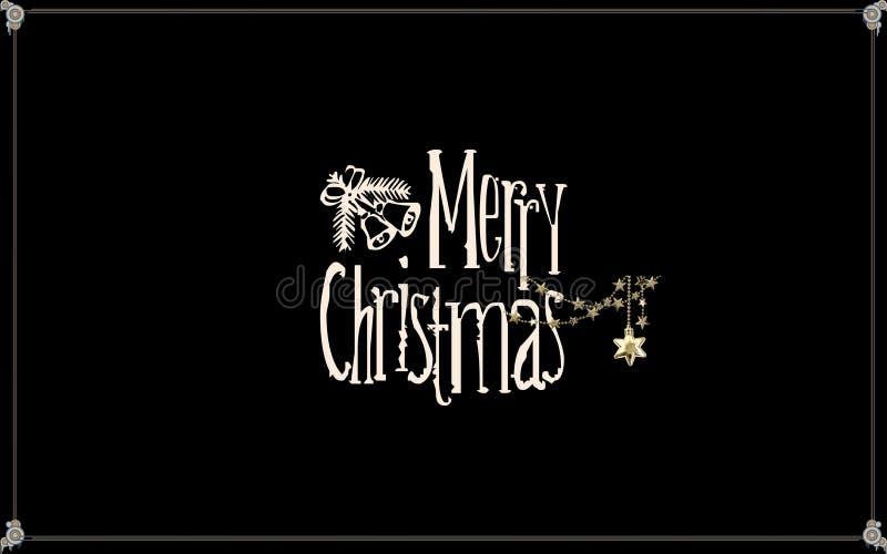 Elegant Christmas card design royalty free stock image