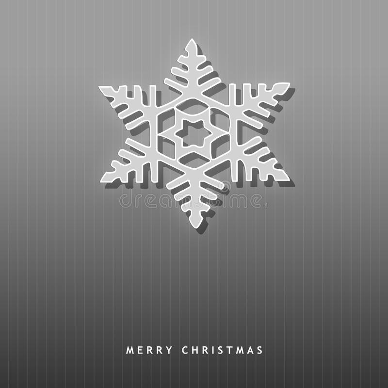 Elegant Christmas card with a snowflake royalty free illustration