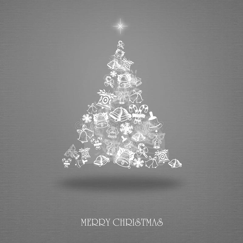 Elegant Christmas card with a symbolic tree stock illustration