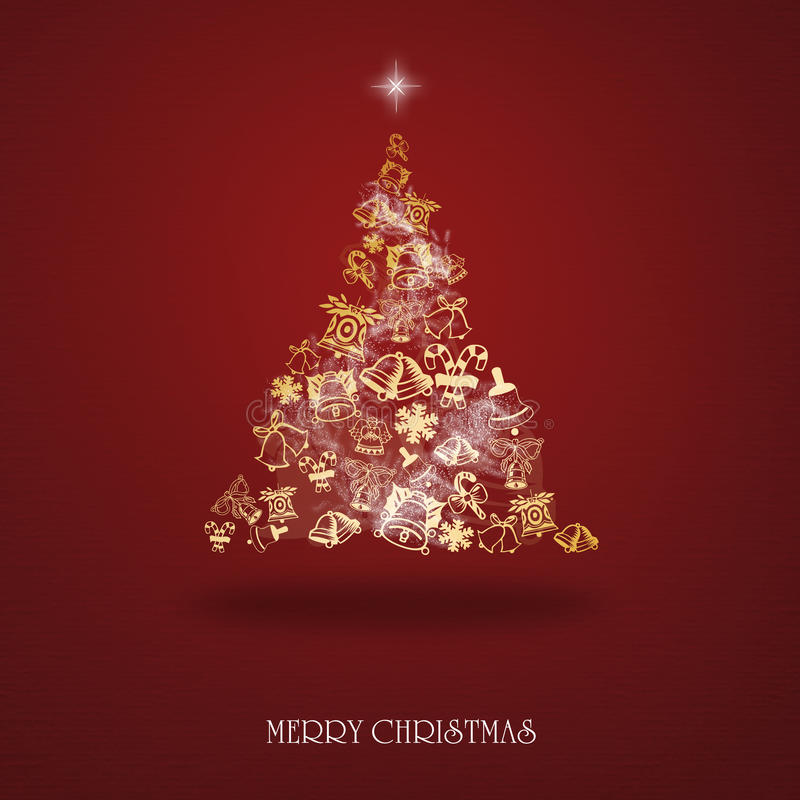 Elegant Christmas card with a symbolic tree vector illustration